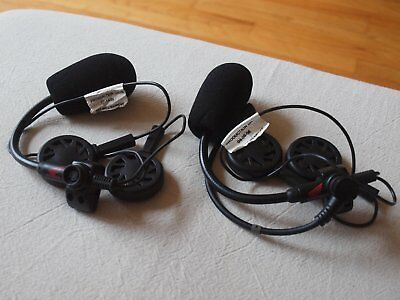 Two, like new, Honda® Goldwing Open Face Helmet, J&M Motorcycle Audio Headsets