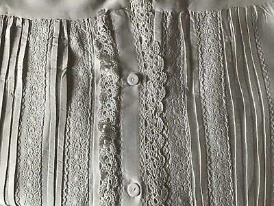 Gorgeous Antique Long Nightgown ~ Beautiful Lace & Whitework