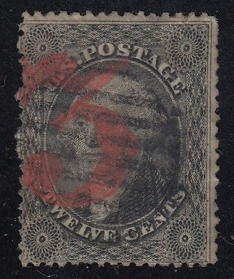 TDStamps: US Stamps Scott#36 12c Washington Used Thin CV$350.00