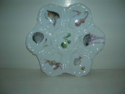 Antique Haviland Oyster Plate With Sea Creatures