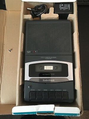 Desktop Cassette Recorder CTR-111 Radio Shack AC/DC - New in Box With Manual