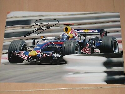 David Coulthard 2006 Signed Redbull F1 Photo 20X30 Pic Very Rare Beautyfull