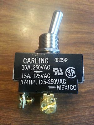 CARLING TECHNOLOGIES  2GK54-73  SWITCH, TOGGLE, DPST, 15A, 250V On-None-Off