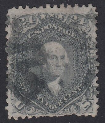 TDStamps: US Stamps Scott#78b 24c Washington Used CV$450.00