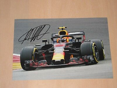 Max Verstappen 2018 Signed Redbull F1 Photo 20X30 Pic Very Rare