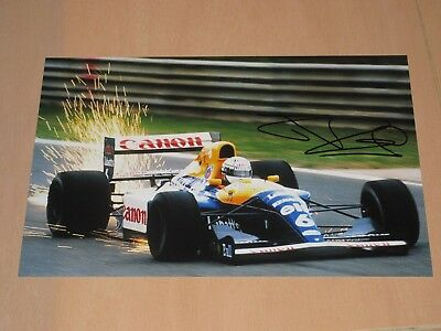 Riccardo Patrese Signed 1992 Williams F1 Photo 20X30 Pic Very Rare Pic Sparks