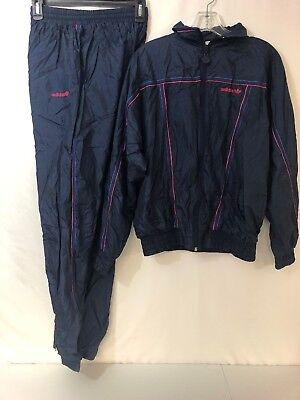 Vintage Adidas Track Suit Women's Small Navy Blue S 040 Pants And Jacket