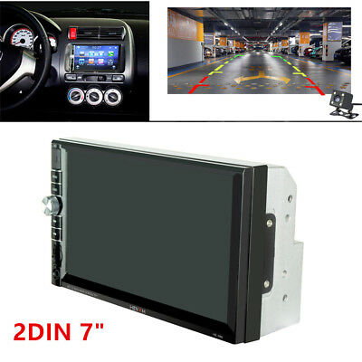 "2DIN 7"" HD Car Stereo Radio MP5 Player Bluetooth FM Touch Screen W/ Rear Camera"