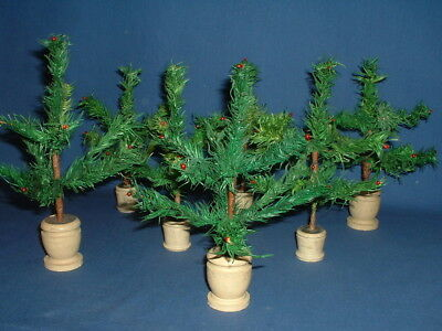 Antique Green German Goose Feather Christmas Tree