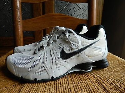 separation shoes 30429 d8790 NIKE SHOX TURBO 13 Black and White Sneaker Running Shoes- Men's 10.5