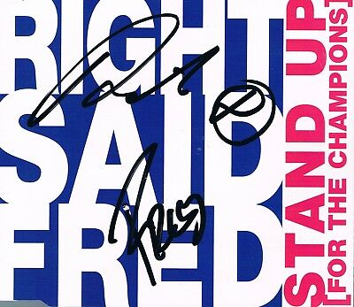 """Right Said Fred: """"Stand up for..."""", Top Maxi CD inkl. original Autogrammen!"""