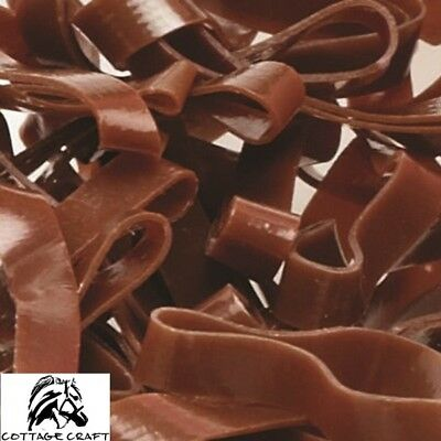 Cottage Craft Magic Plaiting Bands – 500 pack – SILICONE, Super Stretchy – BROWN