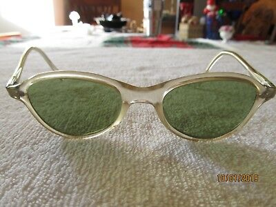 Vintage  Cool Ray Sunglasses Green Glass