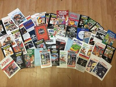 Atari 2600 50+ Various Game Manuals and Catalogs. Good Condition