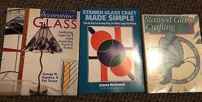 Stained Glass Window Crafting Books X 3