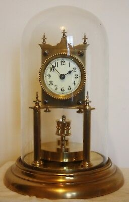 400 Day Anniversary Torsion Clock With Glass dome. JUF. Early 1900..............