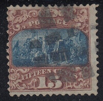 TDStamps: US Stamps Scott#119 15c Pictorial Used CV$225.00