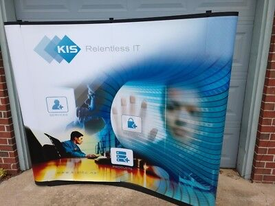 Abex 6' Pop-Up Curved Tabletop Display Hard Case w/ Wheels Trade Show Exibition