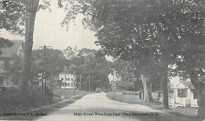 Seabrook, NH: Main Street West from Post Office   1907-1915