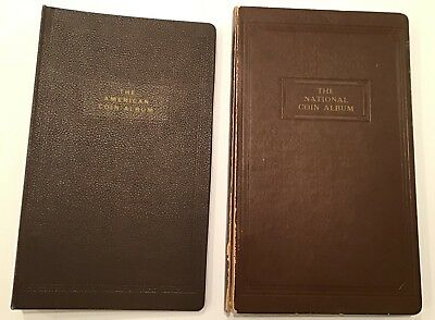 Coin Albums  (2) US  Large Cent & 1/2 Cent-2 Cent Notebook Style