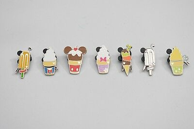 Disney Pin Ice Cream Lot Complete Set Of 7 2018 DLR Hidden Mickey