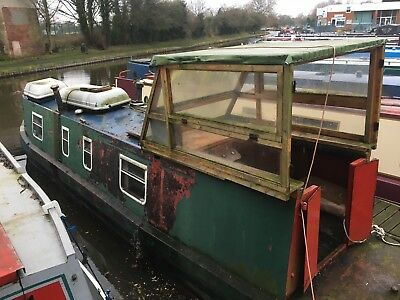 Narrow Boat 35Ft All Steel Narrow Boat Project In Water Mooring Available