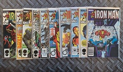 Marvel Iron Man 1980's Lot of 10 Comic Books Vol 1. Issues 190-199