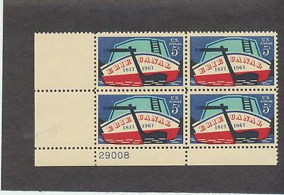 1325 MNH Plate Block (1967) 5c Erie Canal