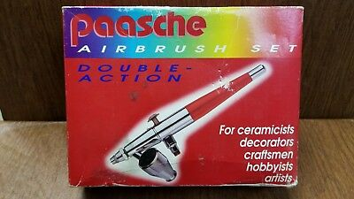 Paasche Double Action VL Airbrush set no 402916 New old stock as shown