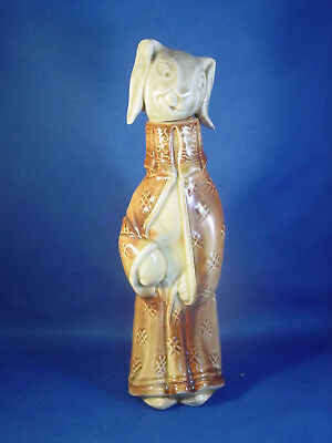 Antique GERMANY Figural Rabbit Whiskey Liquor Bottle Decanter