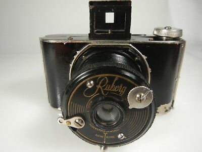 Rare Fotoapparat,camera Ruberg Made In Germany Lens Rodenstock Periskop Is Works