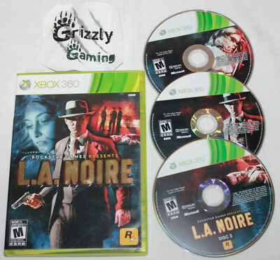 USED L.A. Noire Xbox 360 (NTSC) -Canadian Seller-