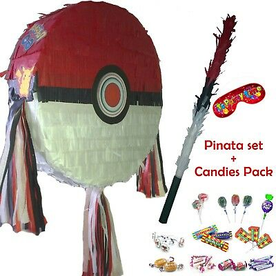 Top Candies Pokeball Pinata smash Birthday Party Pokémon GO Pikachu Poké Ball