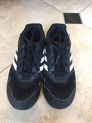 Adidas AltaRun Running Shoes Sneakers Black/White - Boy's Size: 4