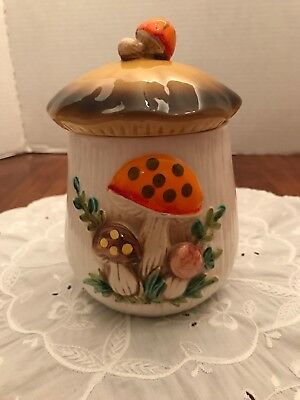Vintage Merry Mushroom Ceramic Canister Replacement Sears & Roebuck 1977 Japan