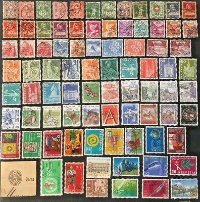 Switzerland Collection Of Mostly Older Stamps