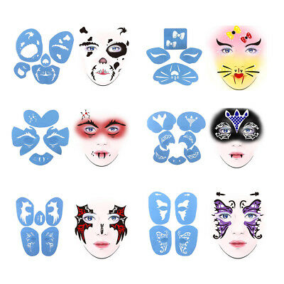 Plastic Body Face Paint Stencil Reusable for DIY Stage Birthday Party Makeup