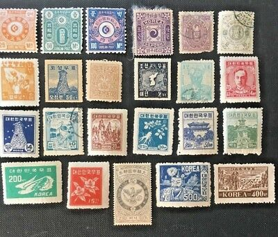 Korea Collection Of Old Stamps To 1950