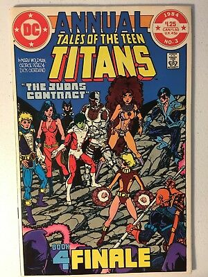 Tales Of The Teen Titans Annual #3 Vf Condition Death Of Terra Tara Markov