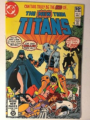 New Teen Titans #2 Vf Condition 1St Appearence Of Deathstroke