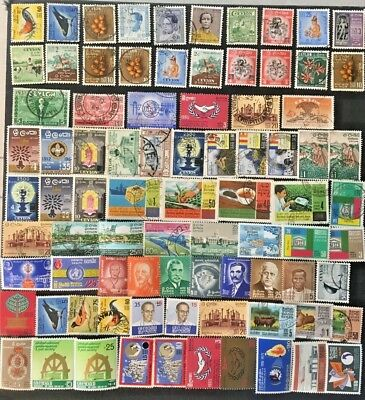 Ceylon  Sri Lanka Collection Of Mostly Older Stamps, See All Pics