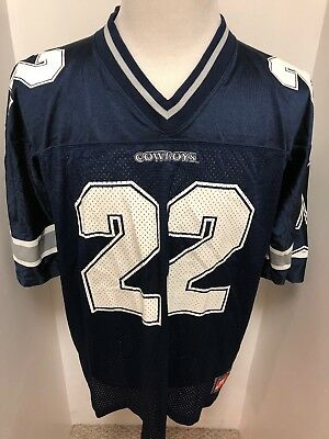 VTG Nike Dallas Cowboys Emmit Smith Jersey Men Large Blue 90 s Vintage  Perfect! 7e0affb9f