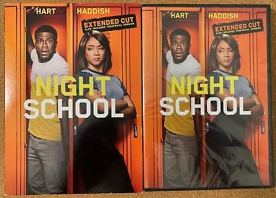 New Night School Extended Cut + Theatrical Version Dvd + Slipcover Sleeve Hart