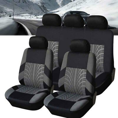 4/9Pcs/Set Sports Breathable Car Full Seat Cover Front Seat Mat Pad Protector