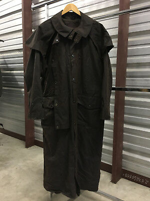 MENS LARGE - Outback Traiding Company Hunting OILED Lined Duster Coat Jacket