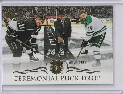 2018-19 Upper Deck Series 1 Ceremonial Puck Drop - Willie O' Ree SP