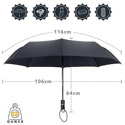 45Inch Umbrella Windproof Tested Auto Open & Close with Ergonomic Handle 2Colors
