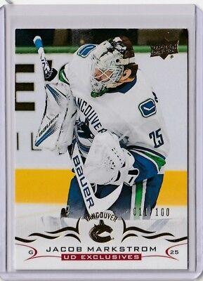 2018-19 Upper Deck Series 1 Exclusives Jakob Markstrom  11/100