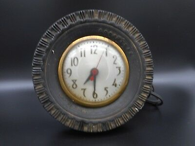Vintage GOODYEAR TIRES GAS OIL Station Advertising Clock by SESSIONS