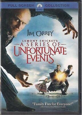 """Lemony Snicket's """"A Series of Unfortunate Events"""" DVD Full Screen"""